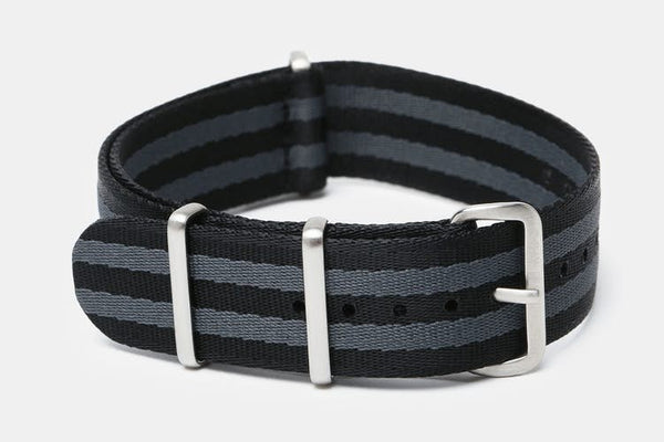 "22mm ""SB"" Black/Gray Bond Seat Belt Strap - Cincy Strap Works"