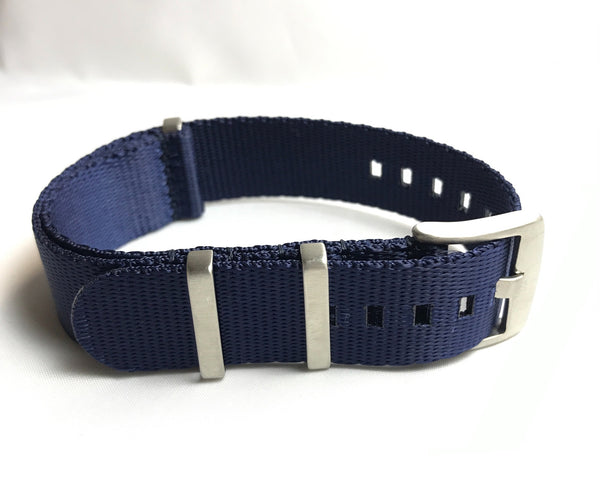 "22mm Premium ""SB"" Navy Blue Seat Belt Strap - Cincy Strap Works"