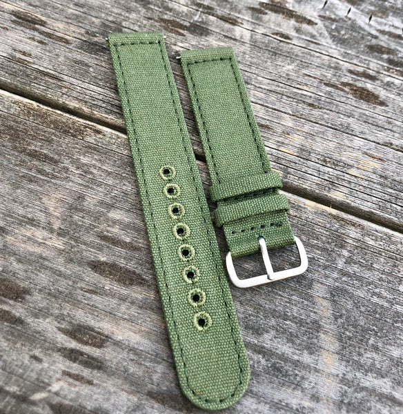 20mm OD Green Canvas strap