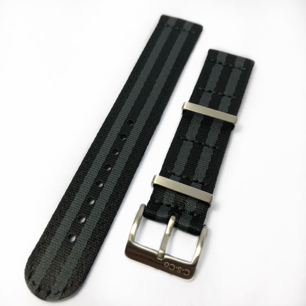 "20mm 2 Piece ""SB"" Black & Gray Bond Seat Belt Strap"
