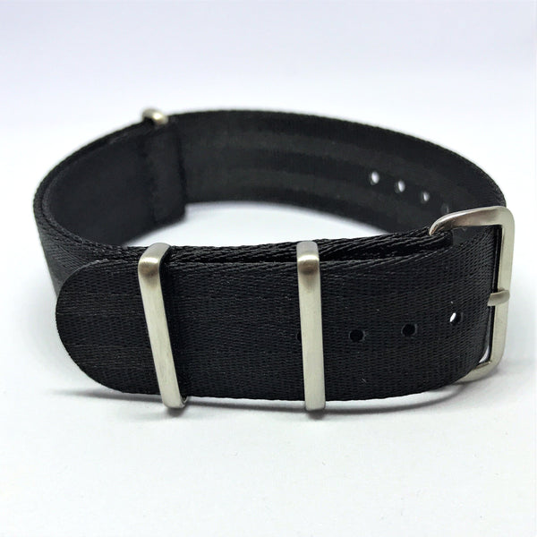 "22mm ""SB"" Black ""Stealth Bond"" Seat Belt Strap - Cincy Strap Works"