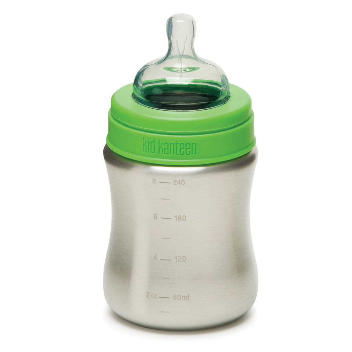 Klean Kanteen Stainless Steel Baby Bottle  267ml 9oz Medium Flow Bottle - Klean Kanteen - Little Earth Nest - 3