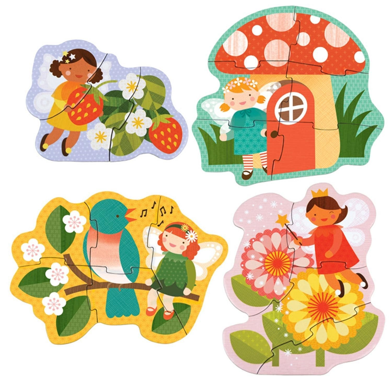 Petit Collage Beginner Puzzles  Fairy Friends - Petit Collage - Little Earth Nest - 1