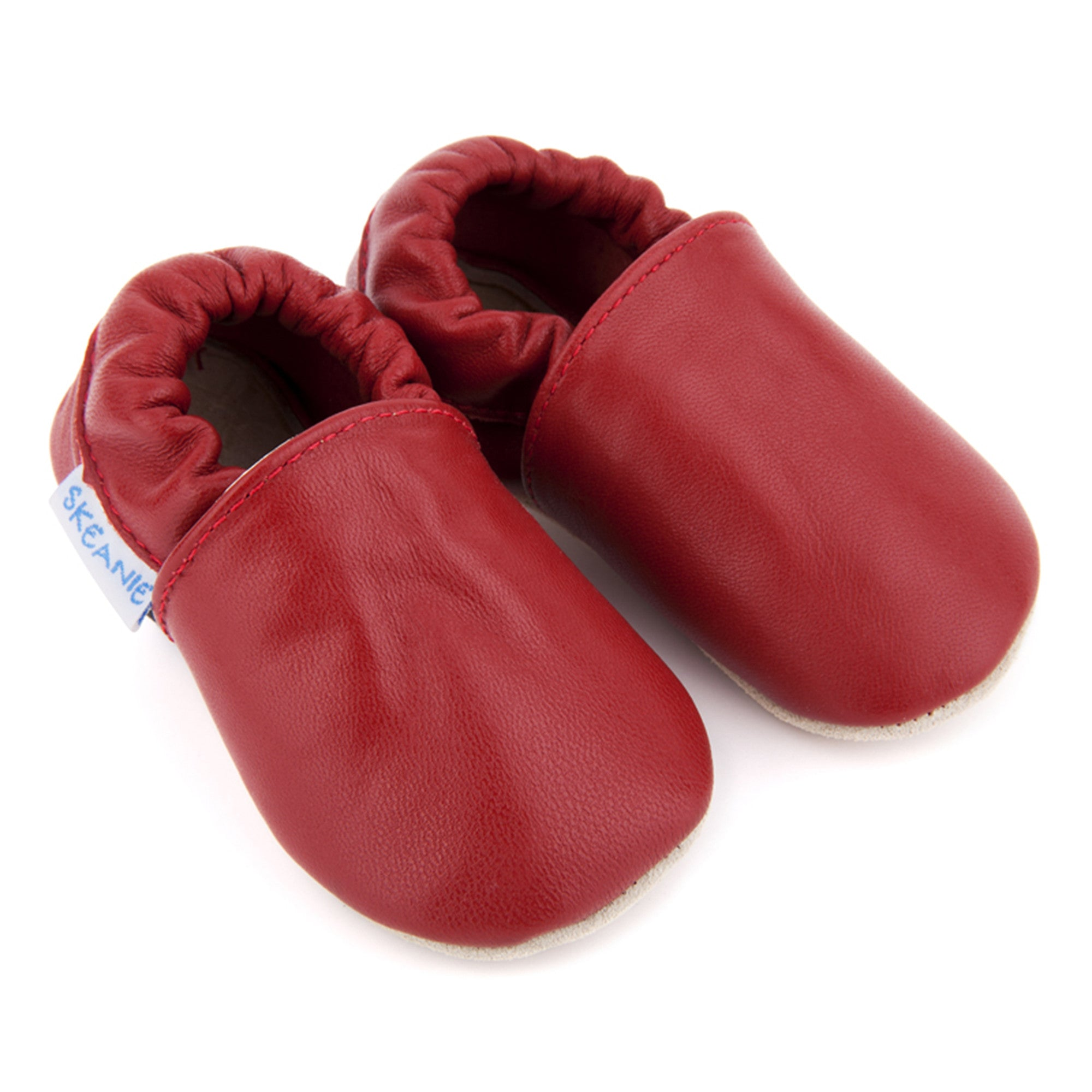 Skeanie Leather Pre Walker Slip-On  S / Red - Skeanie - Little Earth Nest - 1