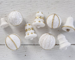 Studio Sample Sale - Embellished Bell and Ball Ornaments