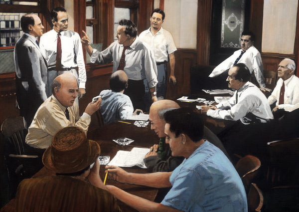Twelve Angry Men reconstruction by artist Trevor Goring