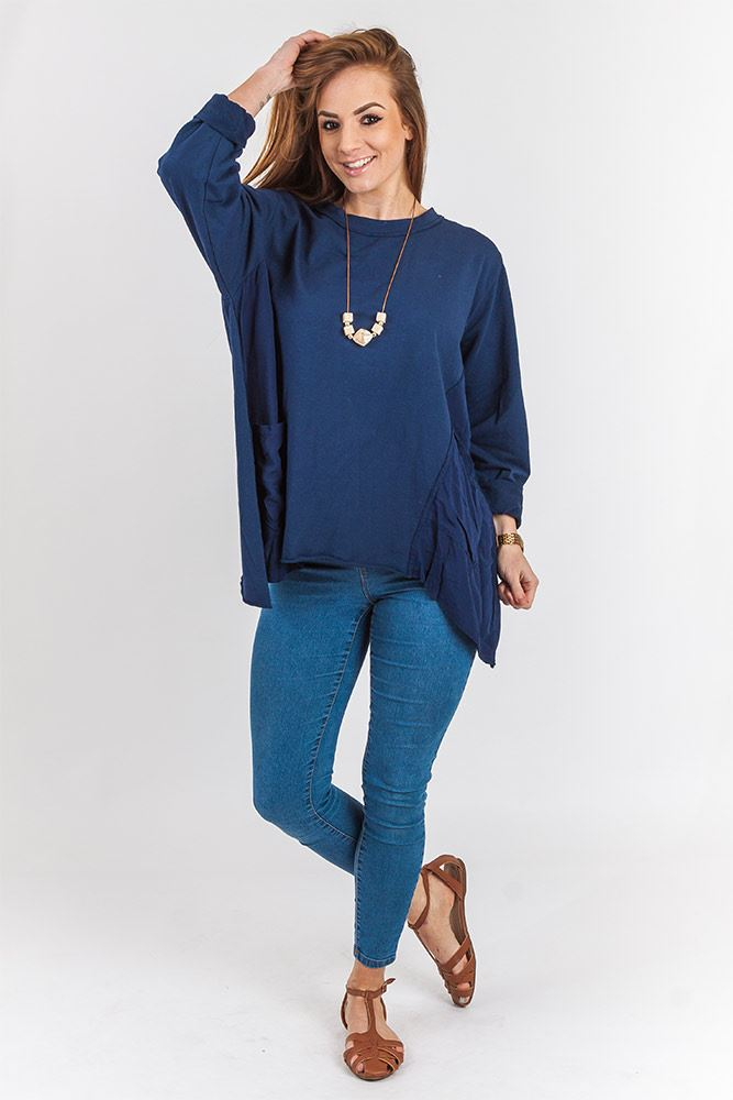 Rocio Cotton Contrast Necklace Top - Love My Fashions - Womens Fashions UK