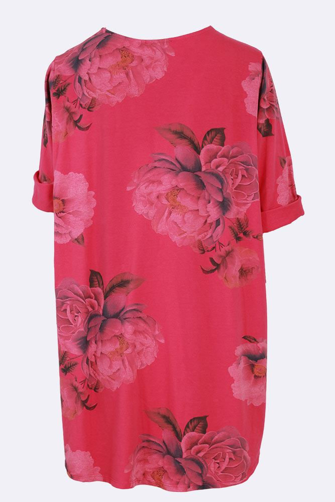 Teresa Floral Contrast Pleated Top - Love My Fashions - Womens Fashions UK