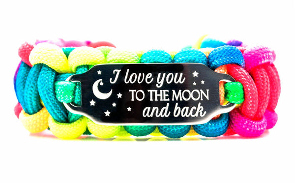 I Love You To The Moon and Back 550 Paracord Bracelet