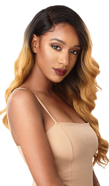 Outre & Play Human Hair Blend Bundle Edition 360 Lace Wig NATURAL DEEP WAVE