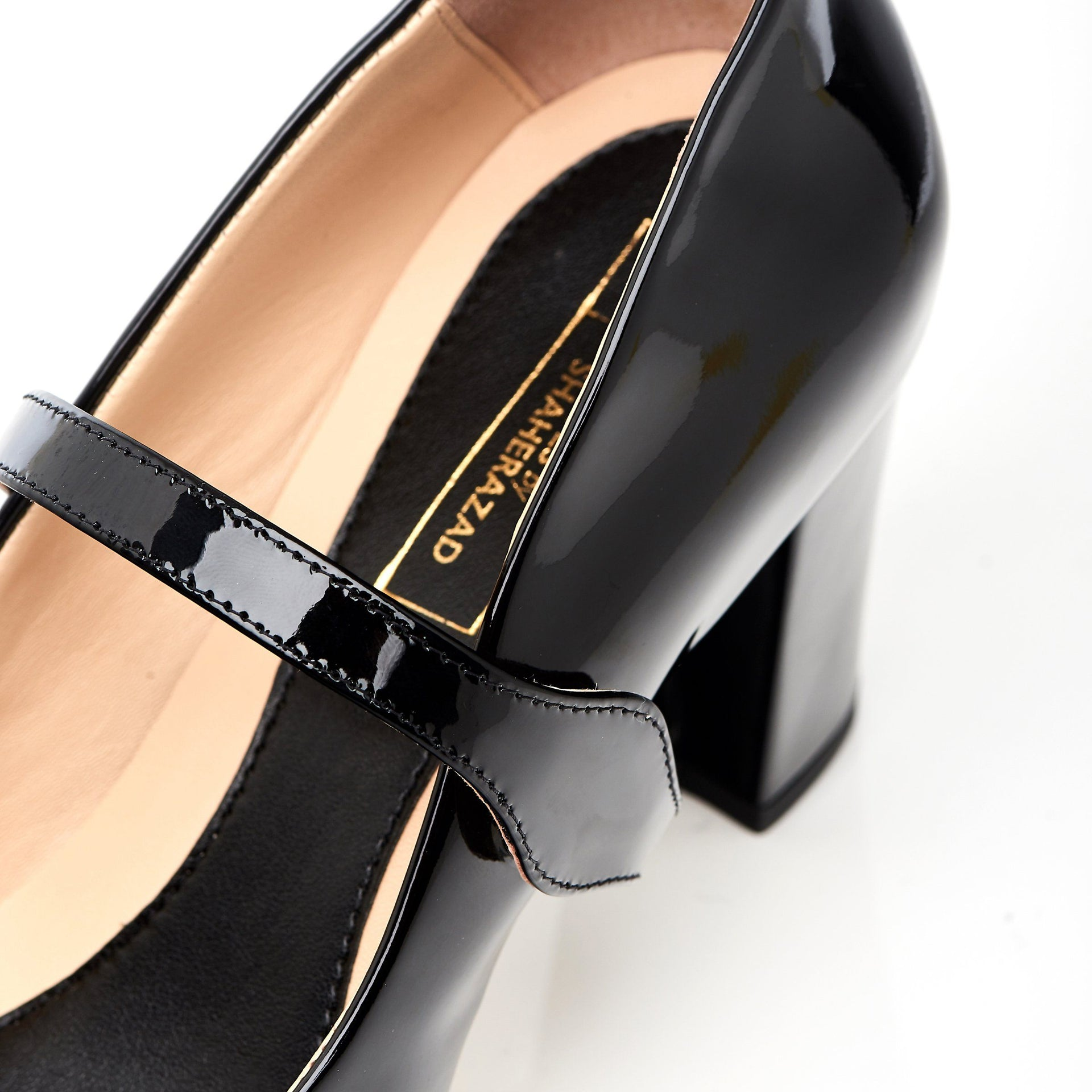 Take My Lead - Block Heels - Black Leather - Shoes by Shaherazad