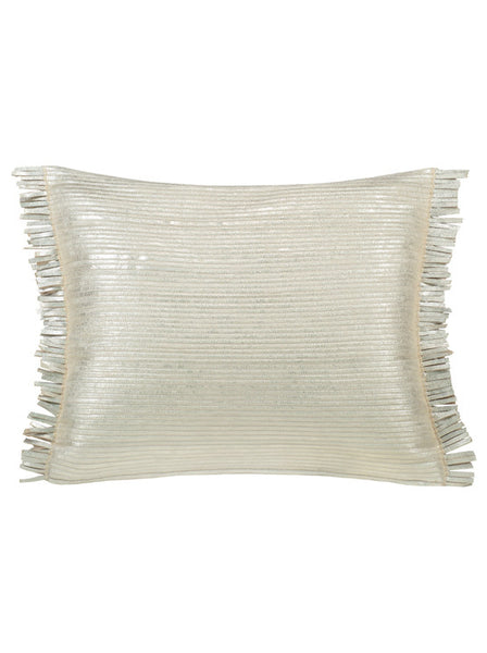 Leather Feather Silver • Pillow - Studio RUF • Luxurious Throws Pillows Bedcovers • Handmade in Morocco - 1