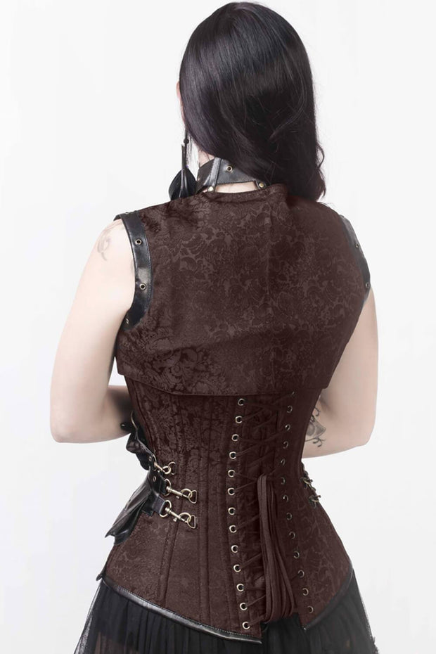 Liz Steampunk Overbust Corset with Shrug