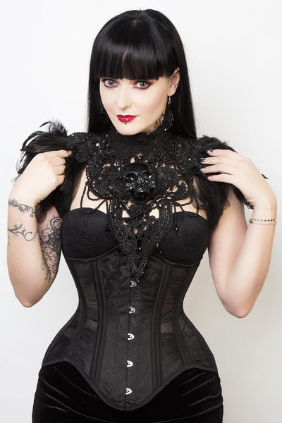 Mesh with Brocade Waist Trainer Corset (ELC-501)