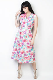 Elyzza London Floral Print Faux Wrap Dress