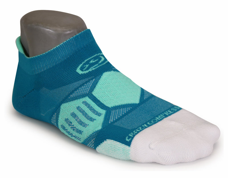 Teal & Lucite - Elite Running Socks - CrazyCompression.com