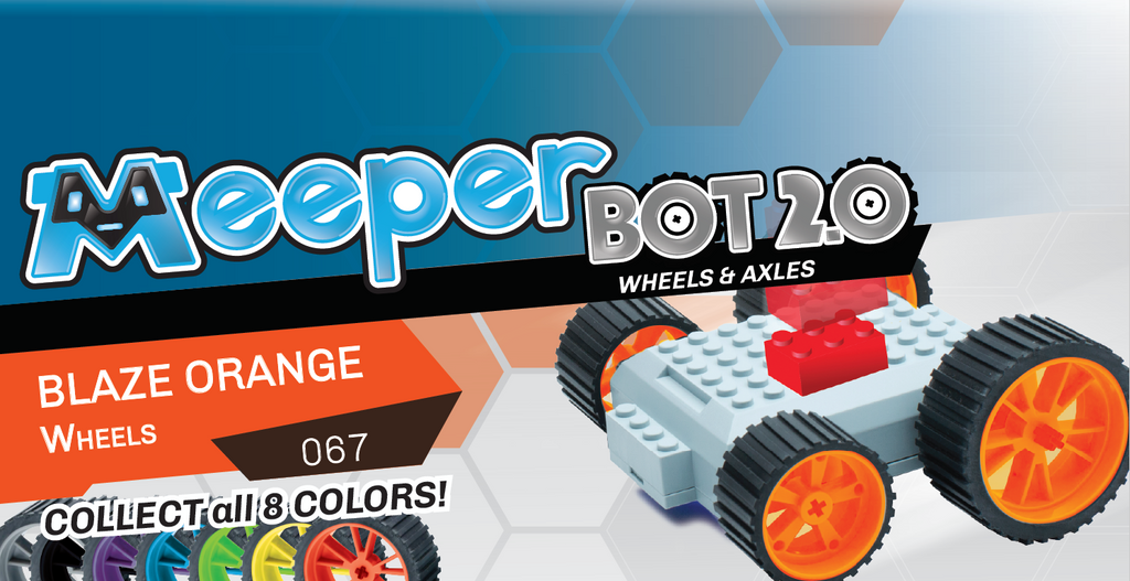 X - meeperBOT 2.0 Wheel Pack - Blaze Orange