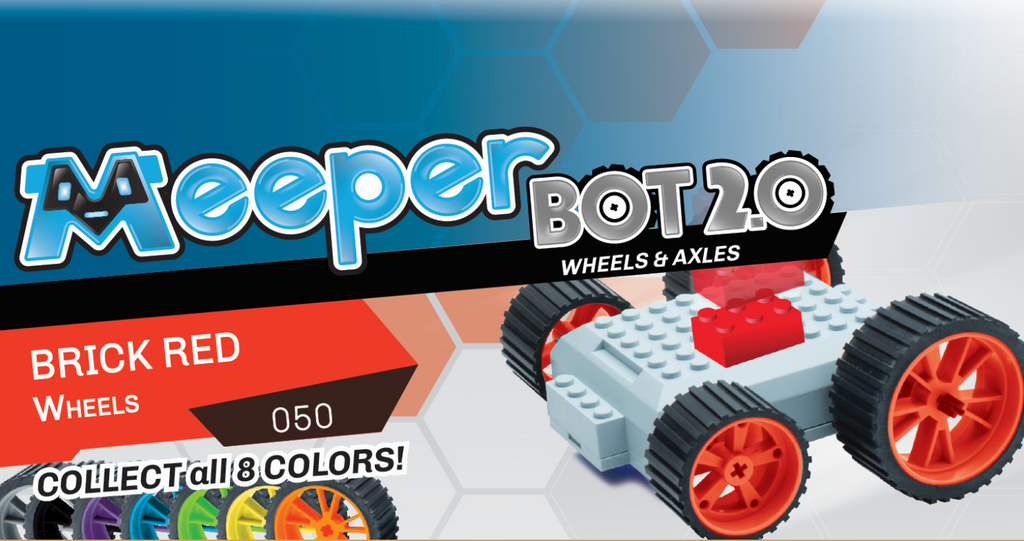X - meeperBOT 2.0 Wheel Pack - Brick Red