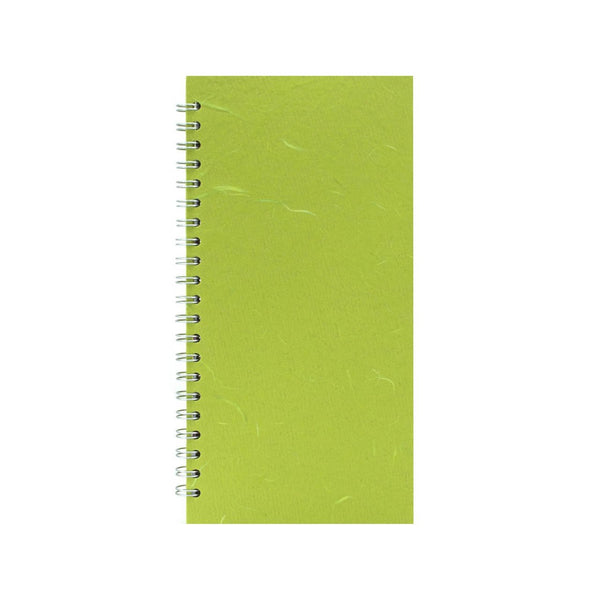 12x6 Portrait, Lime Green Sketchbook by Pink Pig International