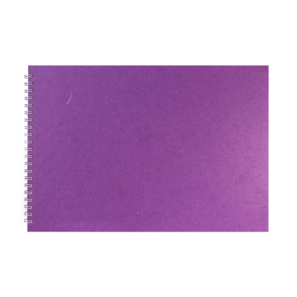 A3 Landscape, Purple Sketchbook by Pink Pig International