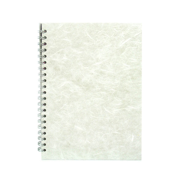 A4 Portrait, White Notebook by Pink Pig International