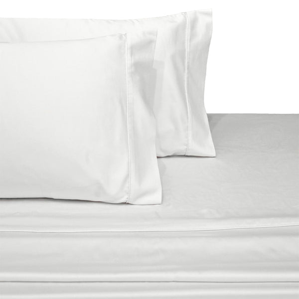 Luxury 600 Thread Count 100% Cotton Solid Bedding; Adjustable Bed Sheets Set; Includes Flat Sheet, Fitted Sheets, & Coordinating Pillowcases