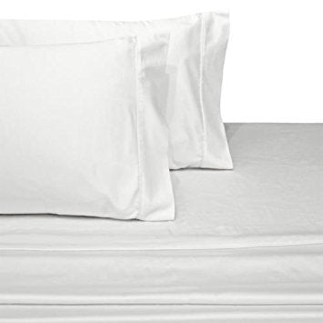300 Thread Count 100% Cotton Percale Solid Pillowcases by Abripedic (Pair); Includes (2) Standard or King Pillowcases