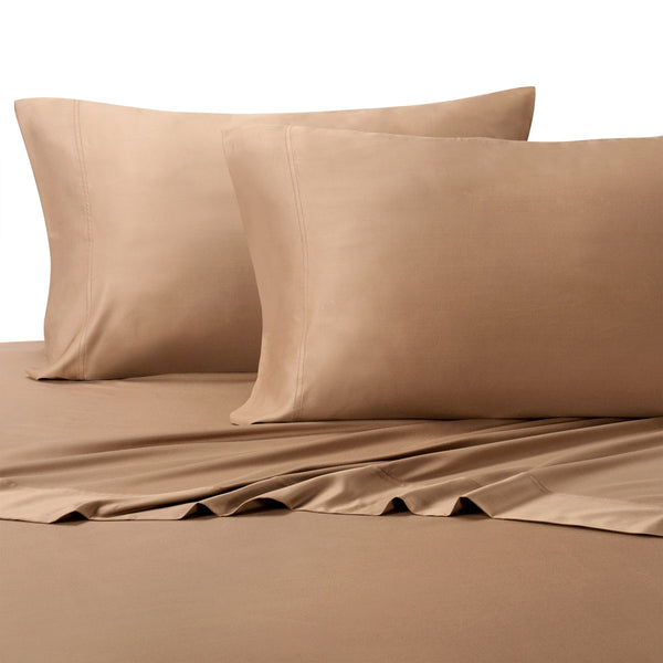 Hypoallergenic 300TC 100% Viscose From Bamboo Solid Bed Sheet Sets; Includes Flat Sheet, Fitted Sheet, & Coordinating Pillowcases