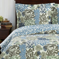 Elegant and Contemporary Elena Green Forest Quilt/Coverlet Bed in a Bag; Includes Quilt, Coordinating Shams, White Flat Sheet, White Fitted Sheet, and White Pillowcases