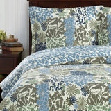 Stunning Elena Green Floral Forest Quilt Bedding Oversized Reversible Quilt Set; Includes Quilt & Coordinating Shams