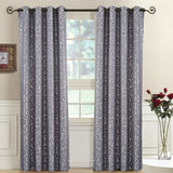 Tuscany Abstract Jacquard Top Grommet Window Curtain Panels Pair (Set of 2)