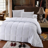 (Split King)-600 Thread Count 100% Cotton Solid Bed in a Bag; Includes Duvet Cover, Coordinating Shams, White Flat Sheet, White Fitted Sheets, White Pillowcases, & Down Alternative Comforter