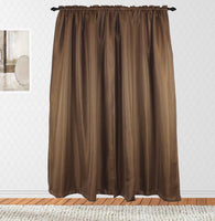 Blackout Taupe Rod Pocket Linen Weave Panel Pair
