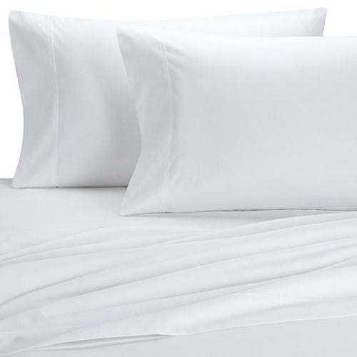 "Split King 18"" inch Super Deep Pockets Percale Solid Sheet Set; Includes Flat Sheet, (2) Fitted Sheets, & Coordinating Pillowcases"