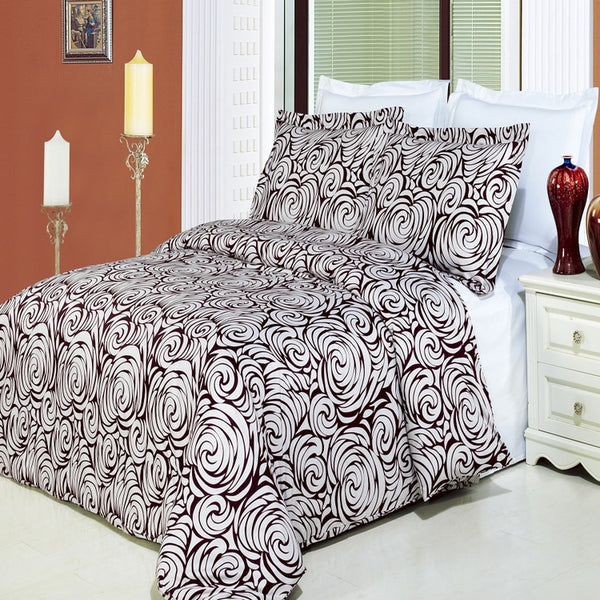 Tustin 210 Thread Count 100% Cotton Floral Duvet Cover Set; Includes Duvet Cover and Coordinating Shams