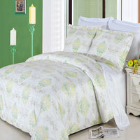 Lana 300 Thread Count 100% Combed Cotton Floral Duvet Cover Set; Includes Duvet Cover and Coordinating Shams