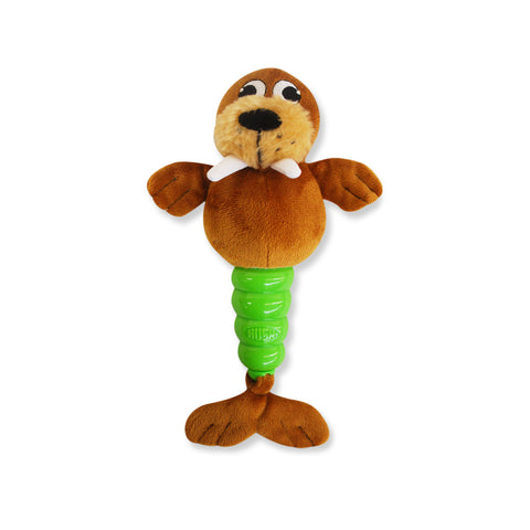 Hush Plush Walrus Small Plush On/Off Squeaker Dog Toy