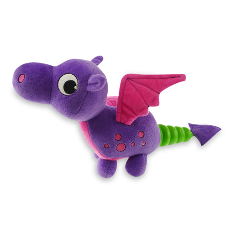 Hush Plush Dragon Large Plush On/Off Squeaker Dog Toy
