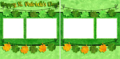 Happy St. Patrick's Day - Digital Scrapbook Pages - INSTANT DOWNLOAD