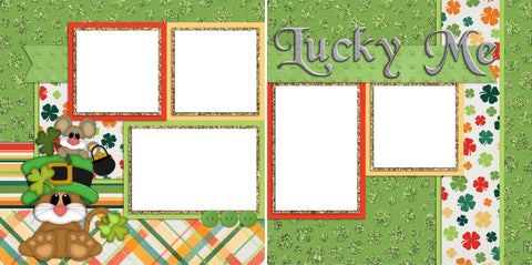 Lucky Me - Digital Scrapbook Pages - INSTANT DOWNLOAD