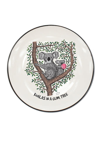 Koalas in a gum tree Single Canapé Plate