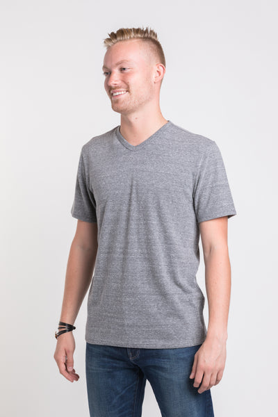 Luke V Neck - Medium Heather