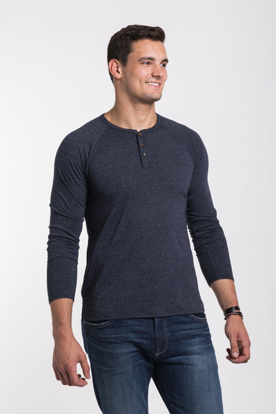 Fremont Henley - Navy Heather