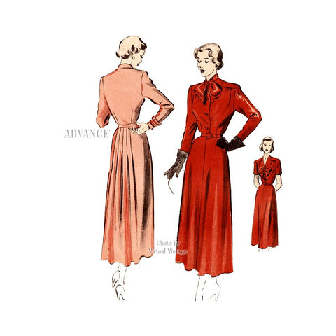 1940s Dress Pattern, Advance 5054