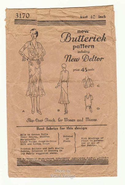 Butterick 3170 1920s flapper dress pattern