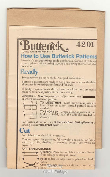 70s Easy Sewing Caftan Pattern Butterick 4201 Loose fitting Tunic Top or Kaftan Bust 36 Uncut