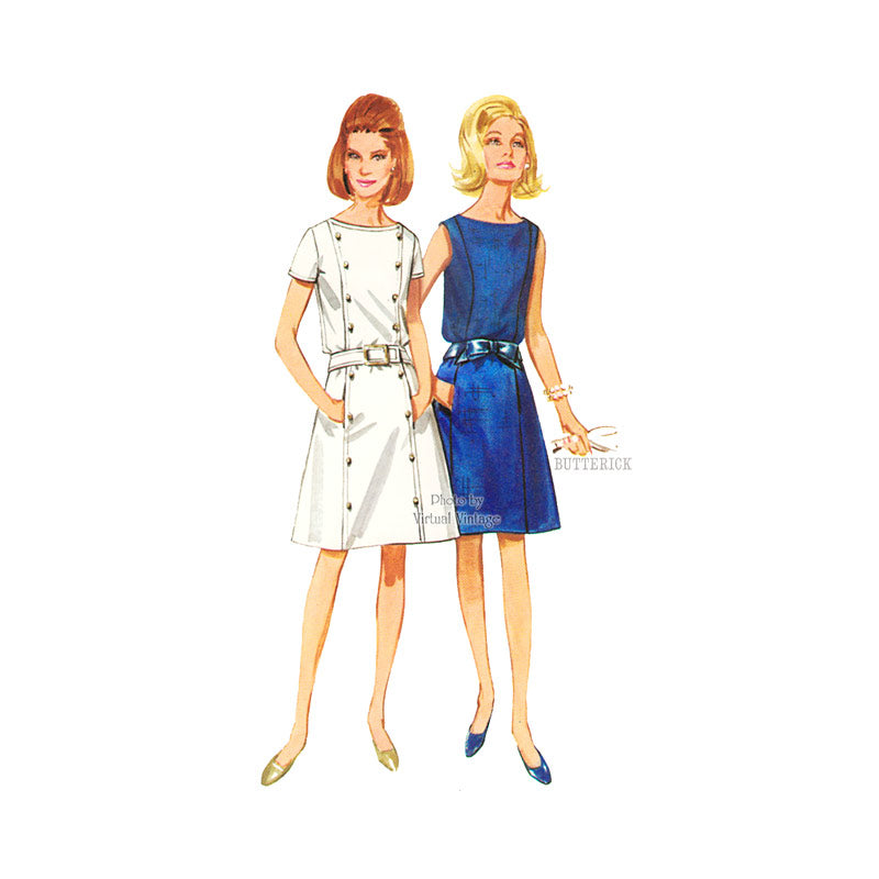 1960s Princess Seam Dress Pattern, Butterick 4403