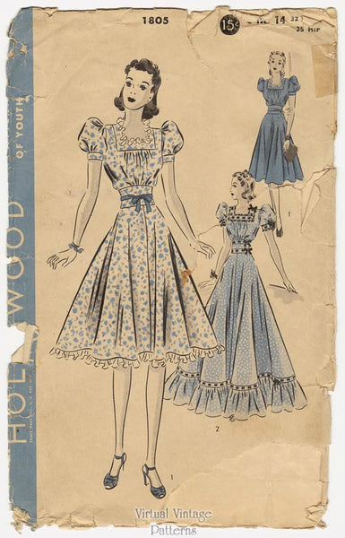 Hollywood 1805, 1930s Gown Pattern