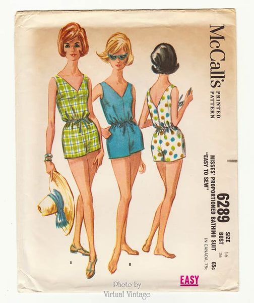 McCall's 6289, 1960s Easy Swimsuit Pattern