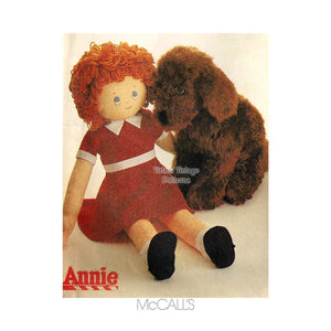Little Orphan Annie Doll Pattern, McCalls 8118